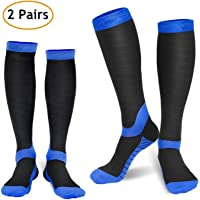 2-Pairs of Refun Compression Socks for Women & Men