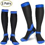 Compression Socks for Women & Men (2 Pairs), Refun Graduated Compression Sock 20-30 mmHg for Running, Medical, Sports, Flight Travel, Nurses, Maternity Pregnancy, Shin Splints, Edema, Varicose Veins