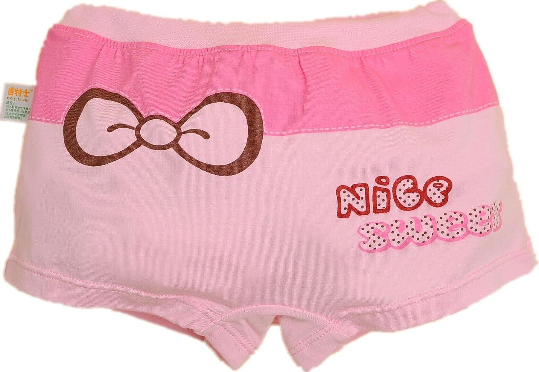 1-3T kulala little toddler girls bowknot design bamboo fiber underwear 2 pack