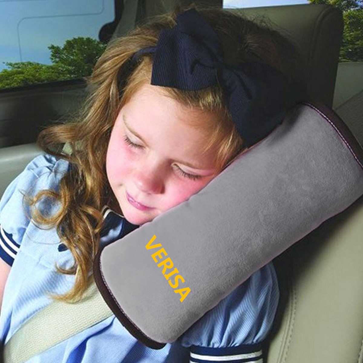 VERISA Seat Belt Pillow, Car Seat Belt Covers for Kids, Adjust Vehicle Shoulder Pads, Safety Belt Protector Cushion, Plush Soft Auto Seat Belt Strap Cover Headrest Neck Support for Children Kid Adult