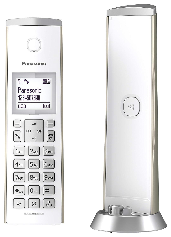 HD-Telefonie matt Graphit Panasonic KX-TGK220GM Design-Telefon mit Anrufbeantworter /& Wecker schnurlos Haustelefon