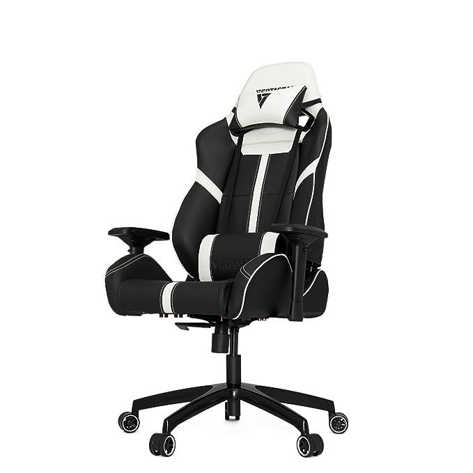 Silla para juegos Vertagear S-Line 5000, piel sintética, negro/blanco, Large: Amazon.es: Hogar