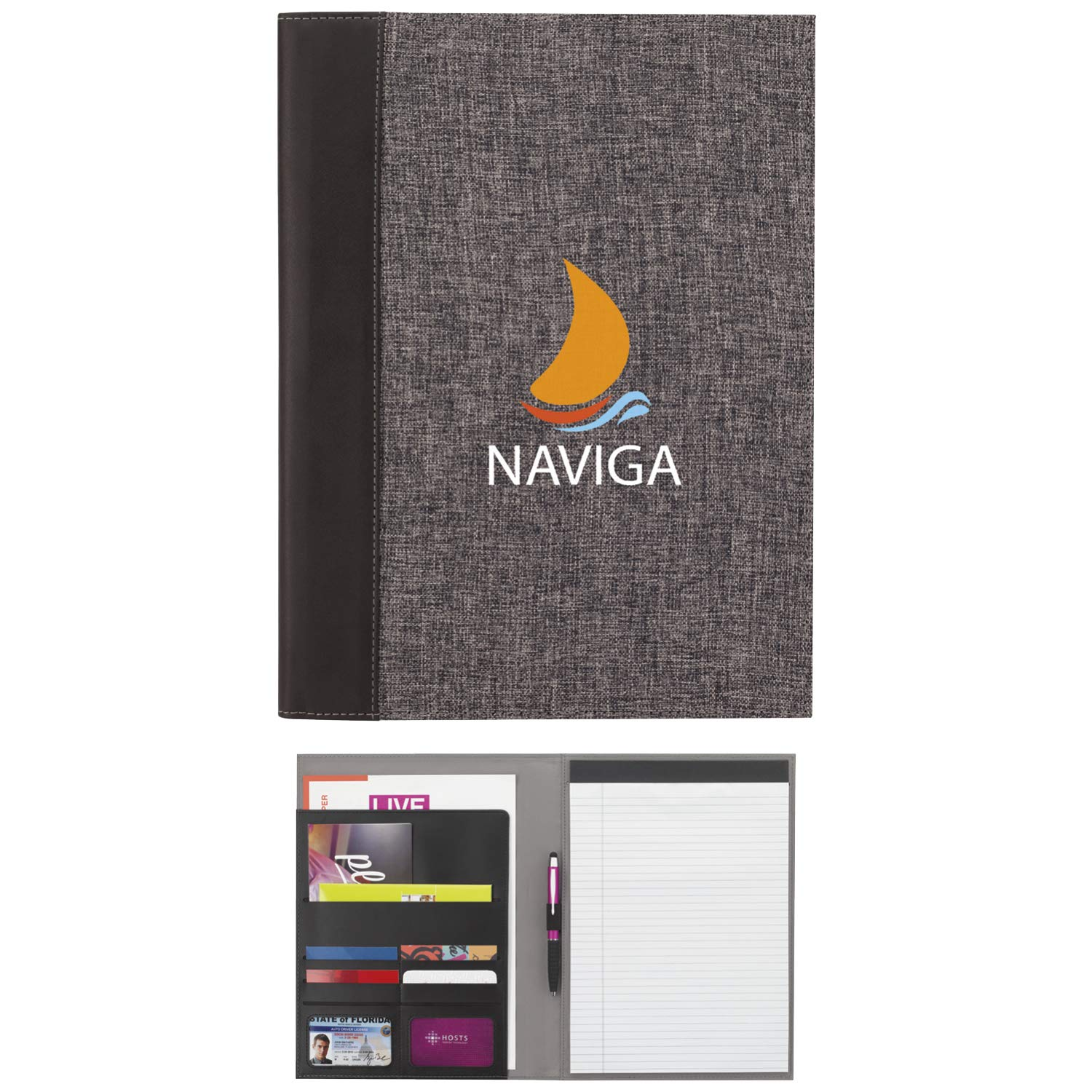 Good Value The Composition Padfolio Charcoal 250 Pack