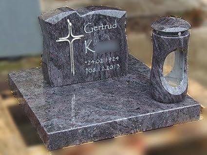 Liegestein Grabsteine Inschrift und Ornament inkl