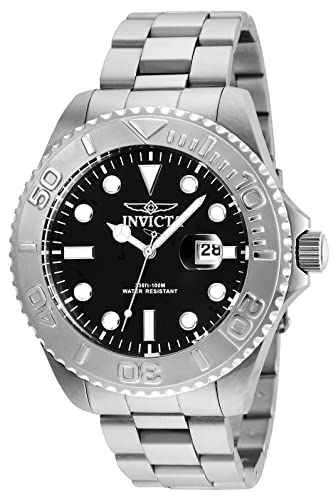 Invicta Men s Pro Diver Quartz Diving Watch with Stainless-Steel Strap, Silver, 22 Model 24622