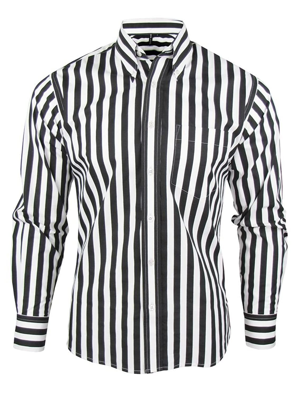 Shirt Stripe Men's Black & White Classic Mod Vintage Design ...