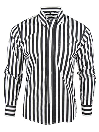 Shirt Stripe Men's Black & White Classic Mod Vintage Design ...