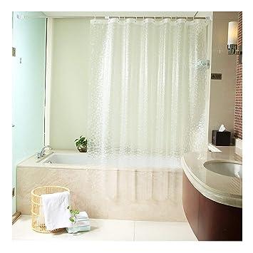 Uforme 48 Inch By 72 Shower Curtain Liner PVC Free Enviromental 3D Cube Bath