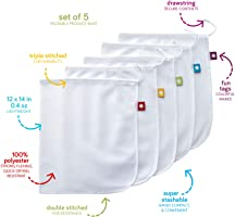 FLIP AND TUMBLE - Reusable Produce Bags – Washable Mesh Bags for Fruits and Vegetables, Tough and Tear Proof