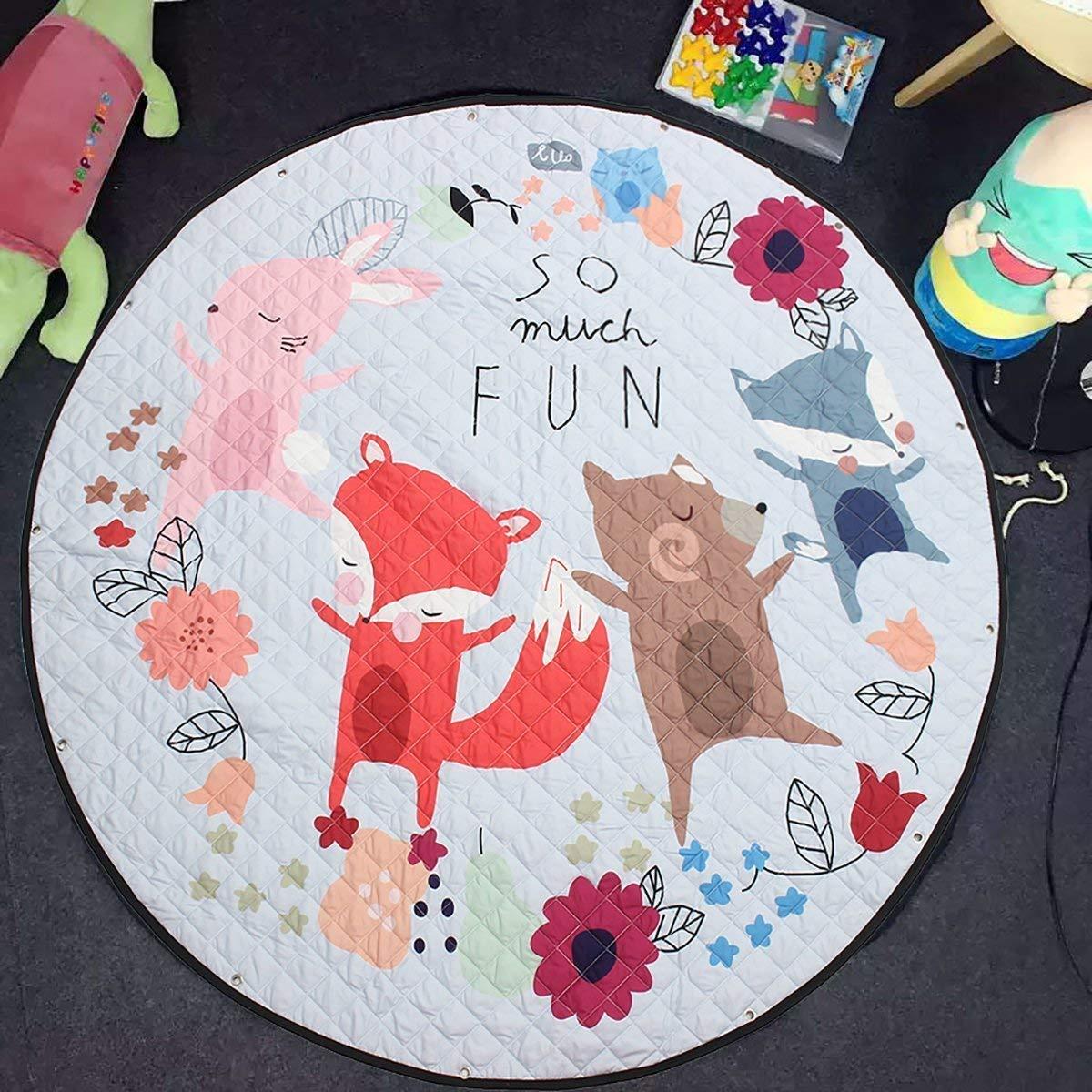 JameStyle26 - Alfombra de Juegos para niños, algodón, Fuchs ...