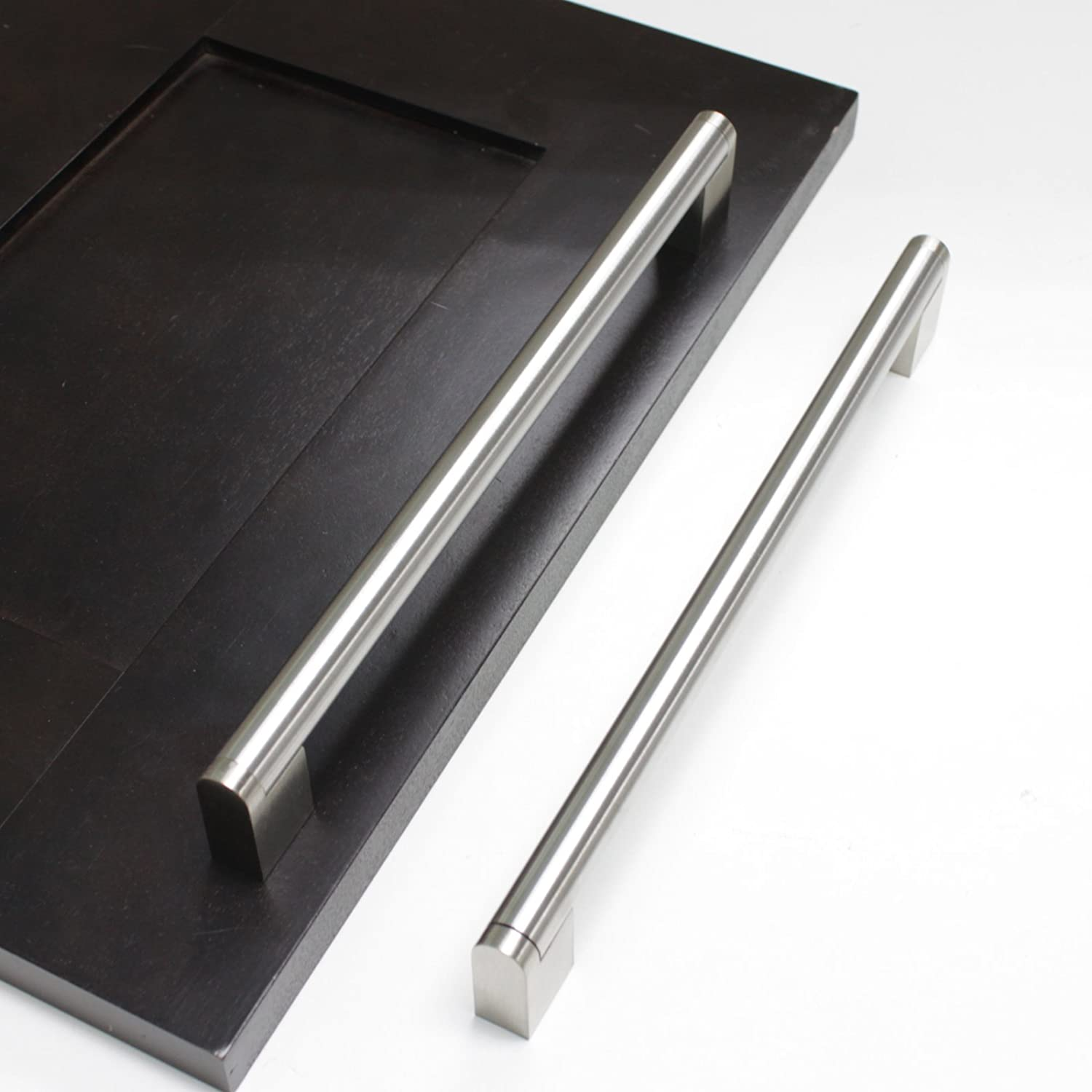Gobrico Brushed Nickel Boss Bar 5in Overall Length 165mm 128mm Center to Center Kitchen Cabinet Handles 15Packs