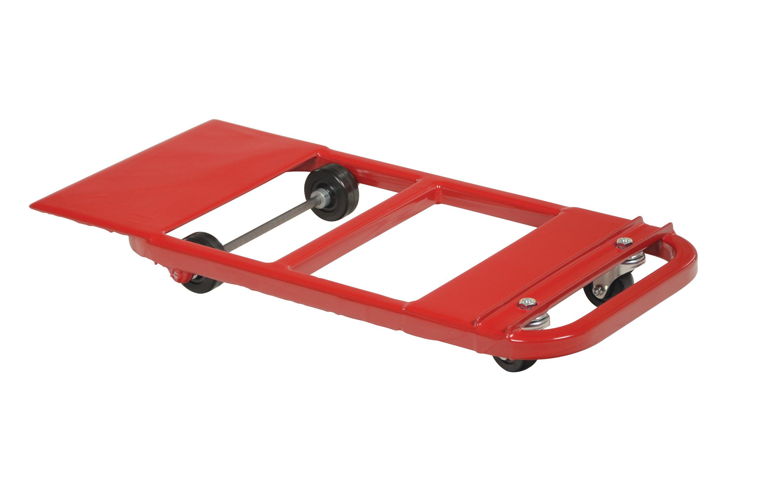 Vestil NPL-21 Steel Nose Plate Dolly, 600 lbs Capacity, 32'' Length x 15'' Width x 4'' Height Deck