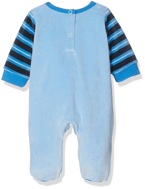 Twins Baby-Jungen Schlafstrampler aus Velours Little Star-2er Pack