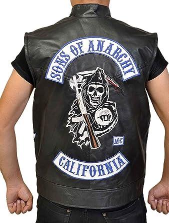 8f0ac3d1b Mens Charlie Hunnam Sons of Anarchy Season 7 Jax Teller Motorcycle Black  Biker Leather Vest