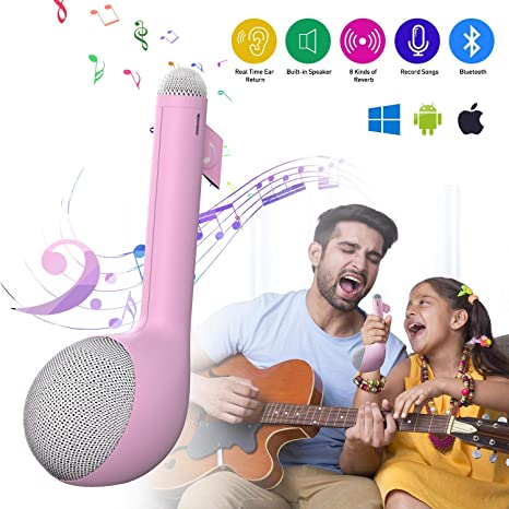 MeloAudio Wireless Bluetooth Karaoke Machine with Speaker, All-in-One  Karaoke System Portable Handheld Singing Mic Voice Changer Home Party  Birthday