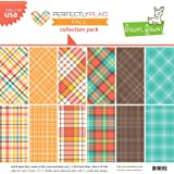 """Lawn Fawn Double-Sided Collection Pack 12""""X12"""" - LF1246 Perfectly Plaid Fall"""