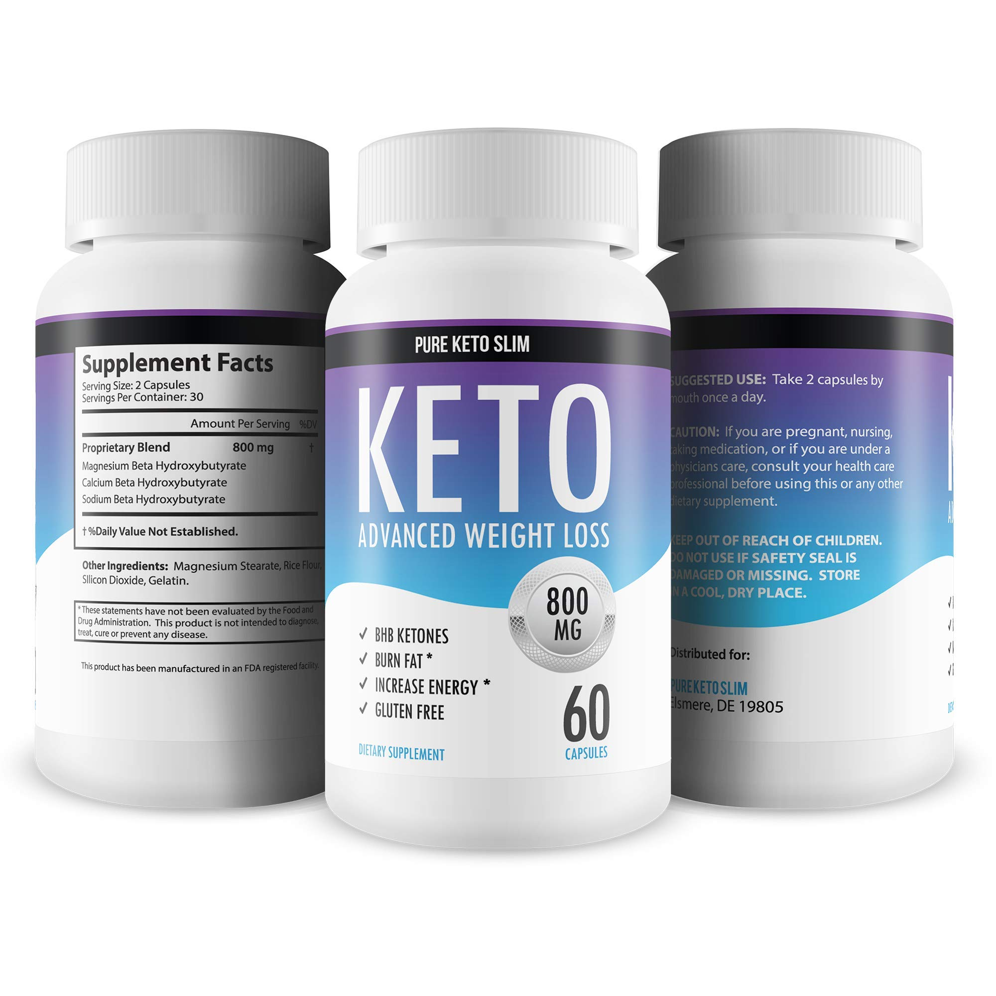 Pure Keto Slim - Keto Diet Pills - Exogenous Ketones Help Burn Fat - Weight Loss Supplement to Burn Fat - Boost Energy and Metabolism - 60 Capsules by Pure Keto Slim (Image #9)