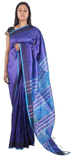 Bihar Khadi Women's Silk Saree/Ladies sarees/sari/Handloom Saree/Silk saree/Ethnic wear saree/Festive sarees/sarees/sariBKSKSRW0008, Violet