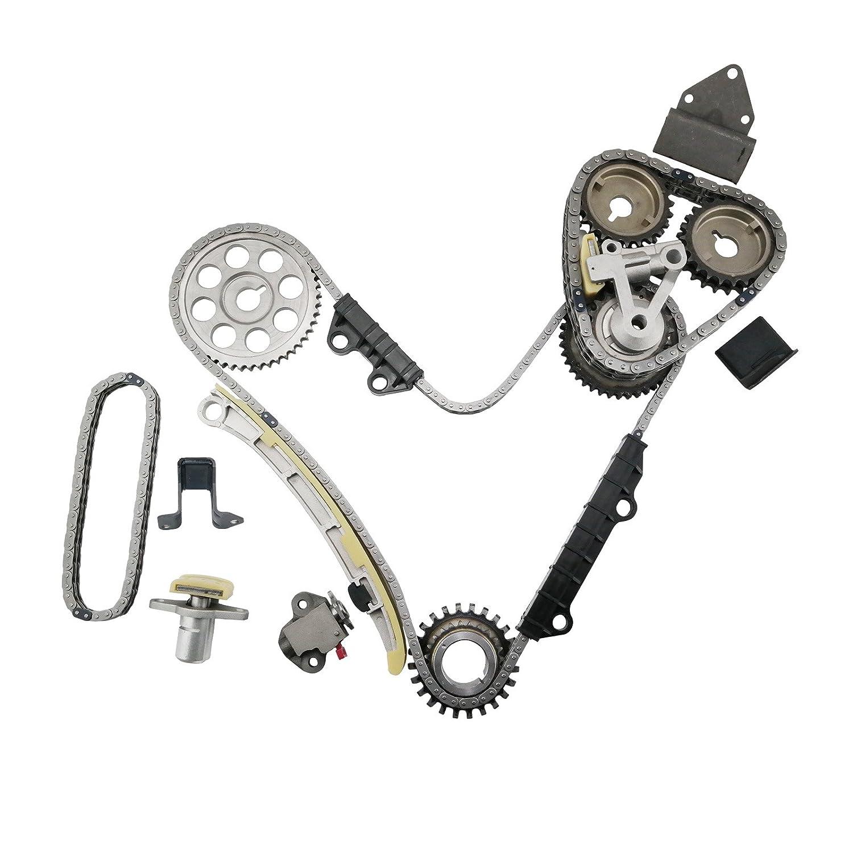 MOCA Timing Chain Kit for 2001-2004 Chevrolet Tracker & 2001-2006 Suzuki Grand Vitara XL7 2.5L 2.7L V6 H25A H27A OELINE Auto Parts