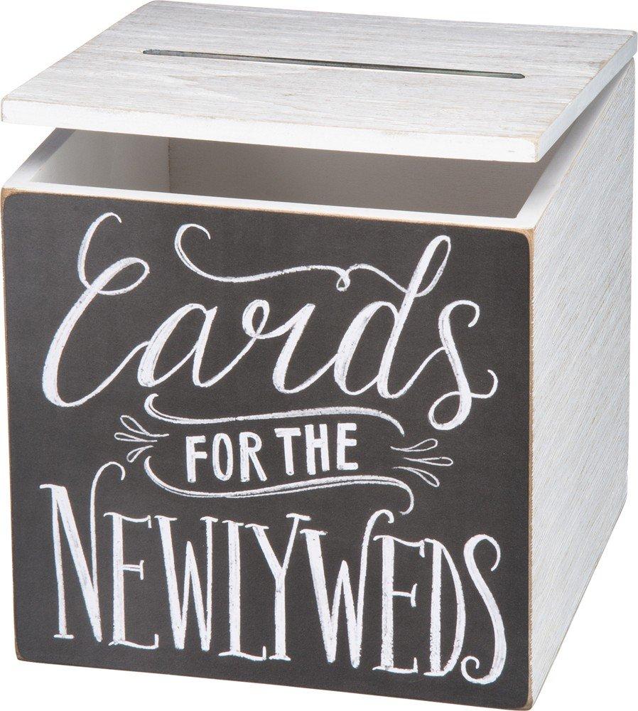 Primitives by Kathy Wedding Card Box, 8'' x 8'' x 8'', Cards for Newlyweds by Primitives by Kathy