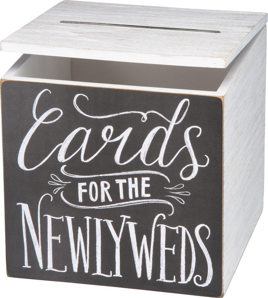 Primitives by Kathy Wedding Card Box, 8'' x 8'' x 8'', Cards for Newlyweds