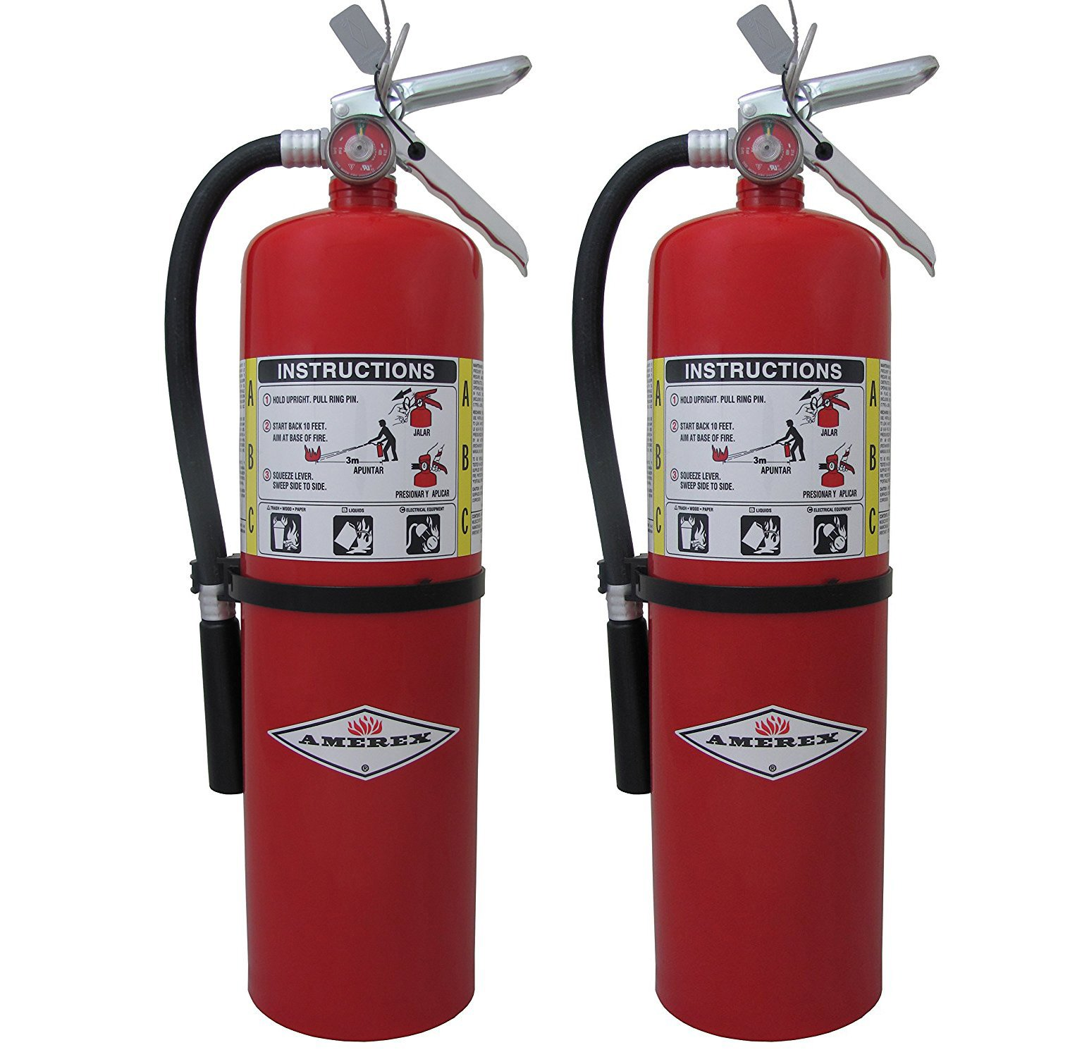 10lb ABC Dry Chemical Class A:B:C Fire Extinguisher (2, 2 pounds)