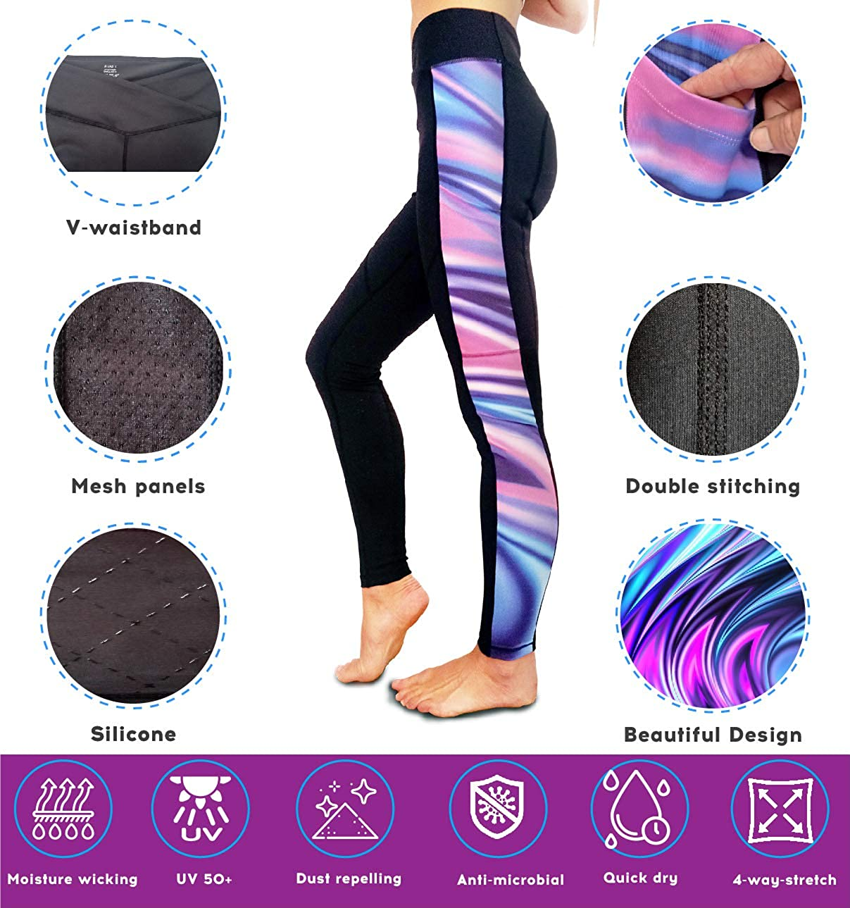 Pockets and Mesh Wild Scrumpy Horse Riding Jodhpur Tights with Silicone