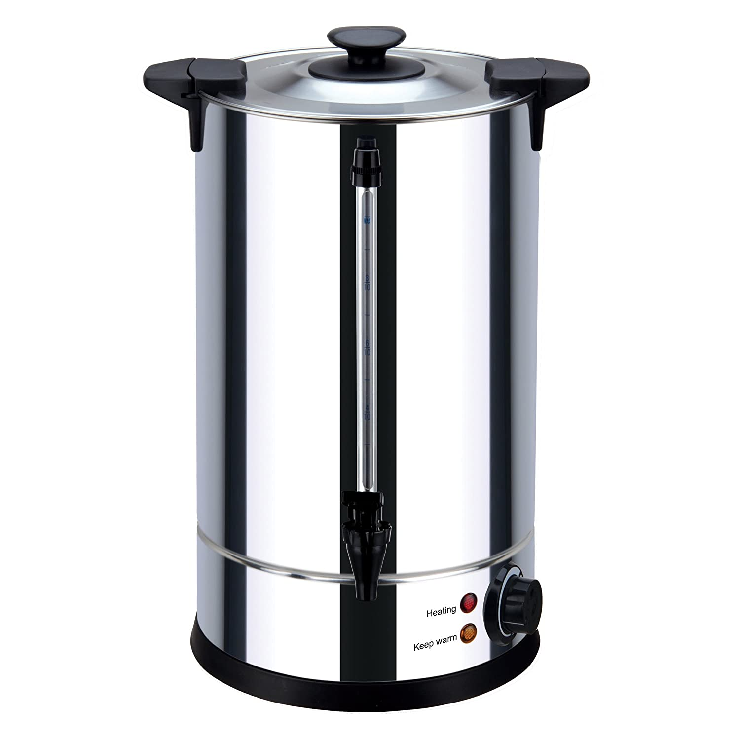 Igenix IG4016 Catering Tea Urn and Hot Water Dispenser, 2250 W - 16 L, Stainless Steel