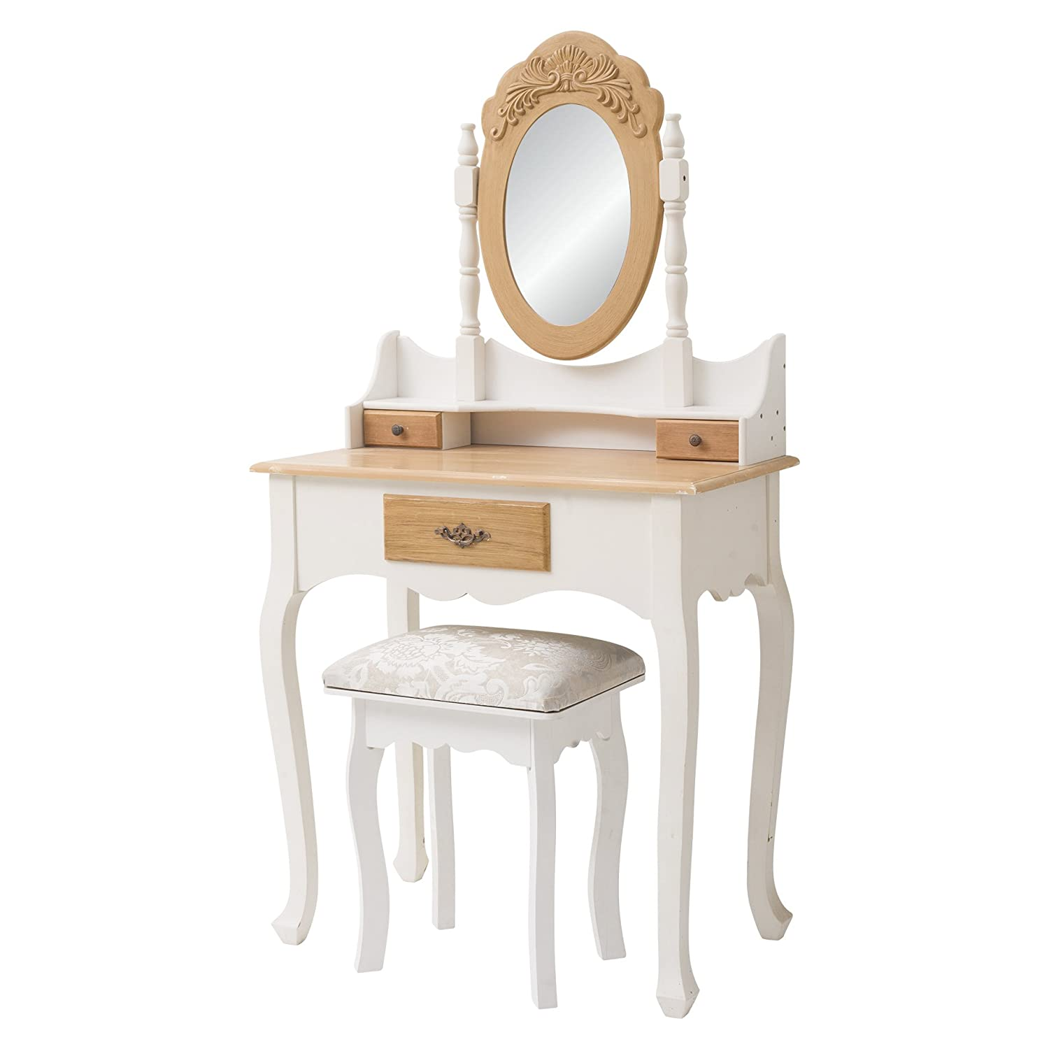 Rebecca Srl Coiffeuse Coiffeuse Table De Maquillage 3 Tiroirs 1