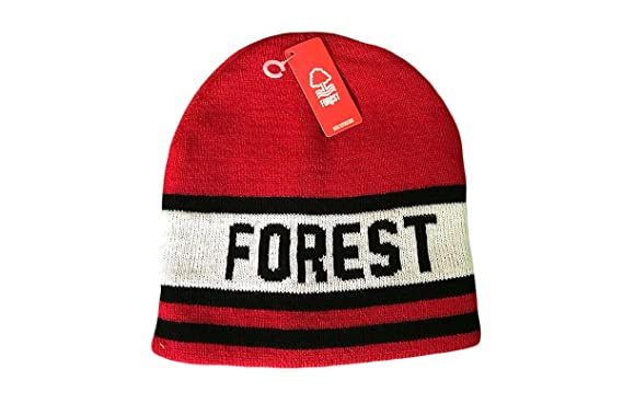 c5ac19199 Nottingham Forest Red Forest Core Beanie Hat: Amazon.co.uk: Clothing