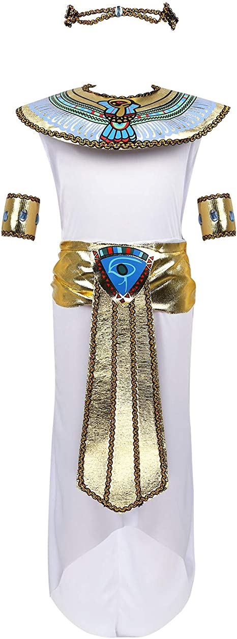 MSemis Disfraz de Egipcia para Niñas Chicas Cosplay Cleopatra ...