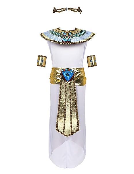 MSemis Disfraz de Egipcia para Niñas Chicas Cosplay ...