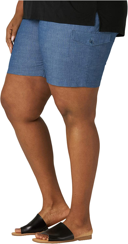 Lee Uniforms Womens Petite Flex-to-go Cargo Bermuda Short