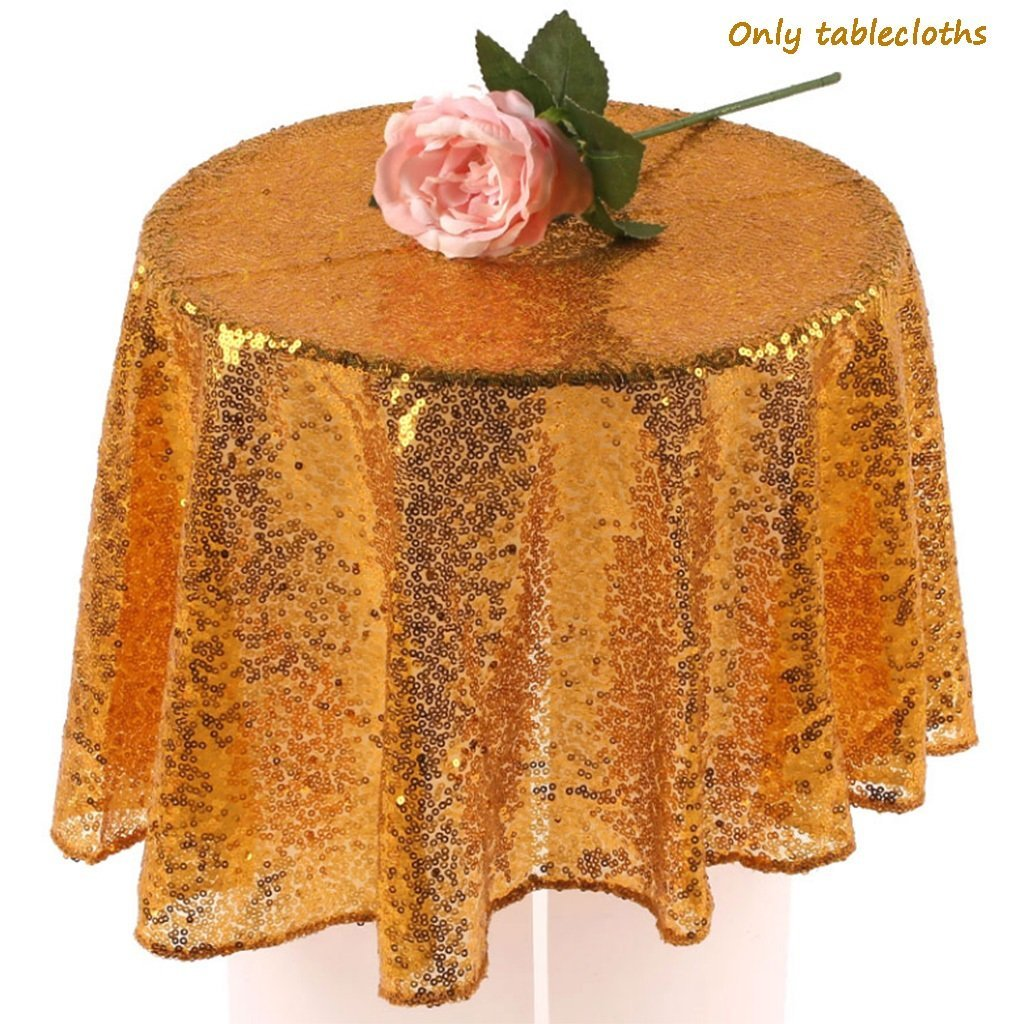 NSC Festive Party Tablecloths Wedding Sequins Sign In Dessert Table Decoration Tablecloth Hotel Layout Set Up ( Size : 180 )