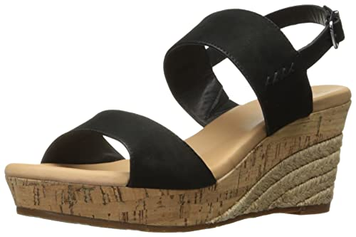 82ae97bbcce UGG Women's Elena Wedge Sandal, Black, 3.5 UK: Amazon.co.uk: Shoes ...