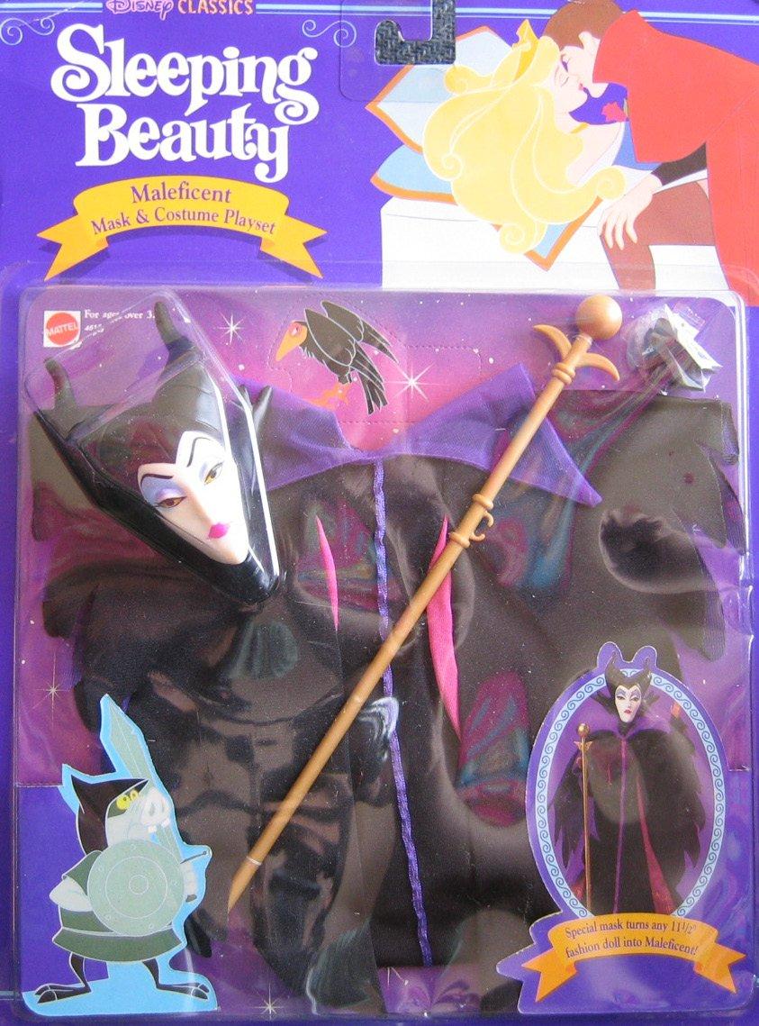 Disney Sleeping Beauty MALEFICENT Mask Costume Playset For Barbie 1991