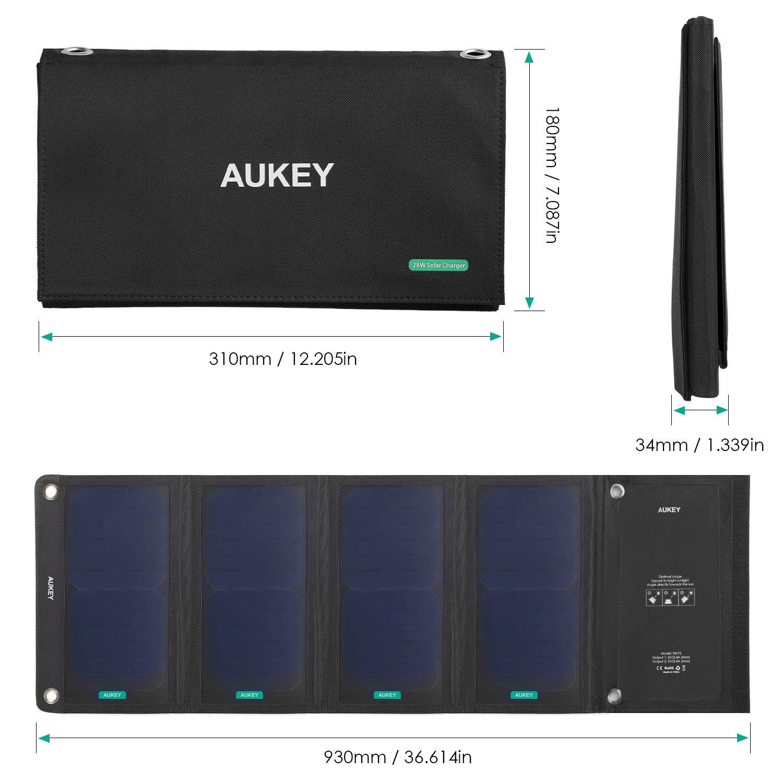 28 Watt Solarladegerät mit 2 USB-Ports / Bild: Amazon.de