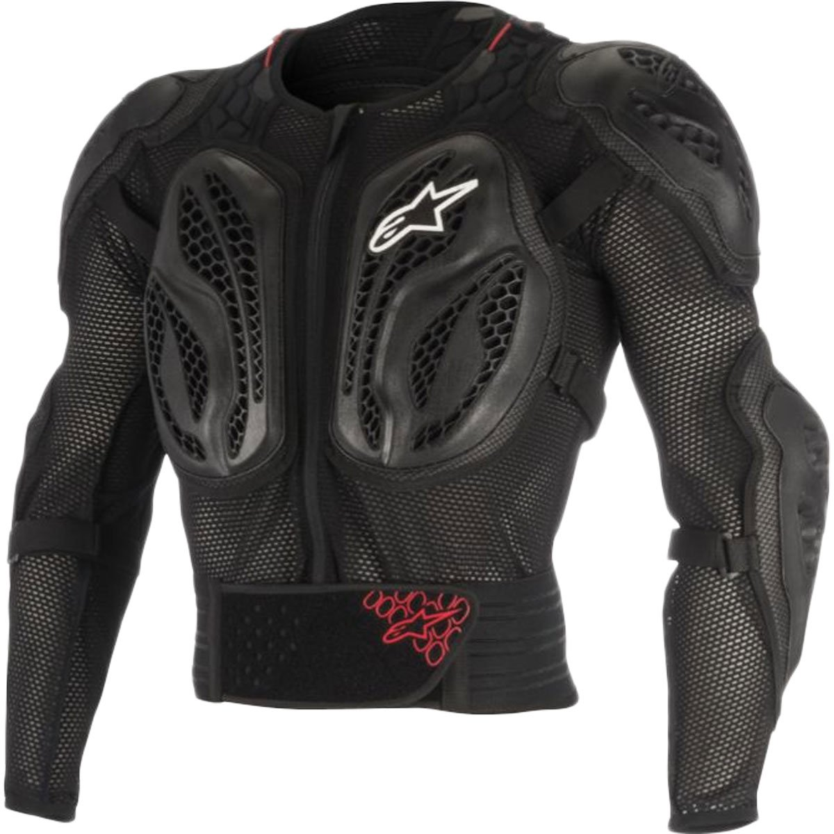 Alpinestars Bionic Action Jacket Men's Off-Road Body Armor - Black/Red / 2X-Large