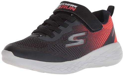 panorama Fuera de plazo solapa  Buy Skechers Boy's Go Run 600-Farrox Black/Red Sneakers-11 UK (30 EU) (12  Kids US) (97867L-BKRD) at Amazon.in