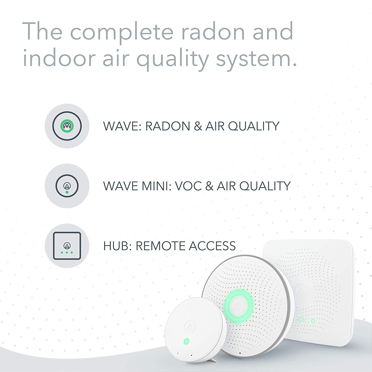 Airthings House Kit Radon And Indoor Air Quality Monitoring System Multi Room Business Industry Science