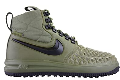 76ea5dc5a8c2 Nike Mens Lunar Force 1 Duckboot  17 Medium Olive Black-Wolf Grey 916682