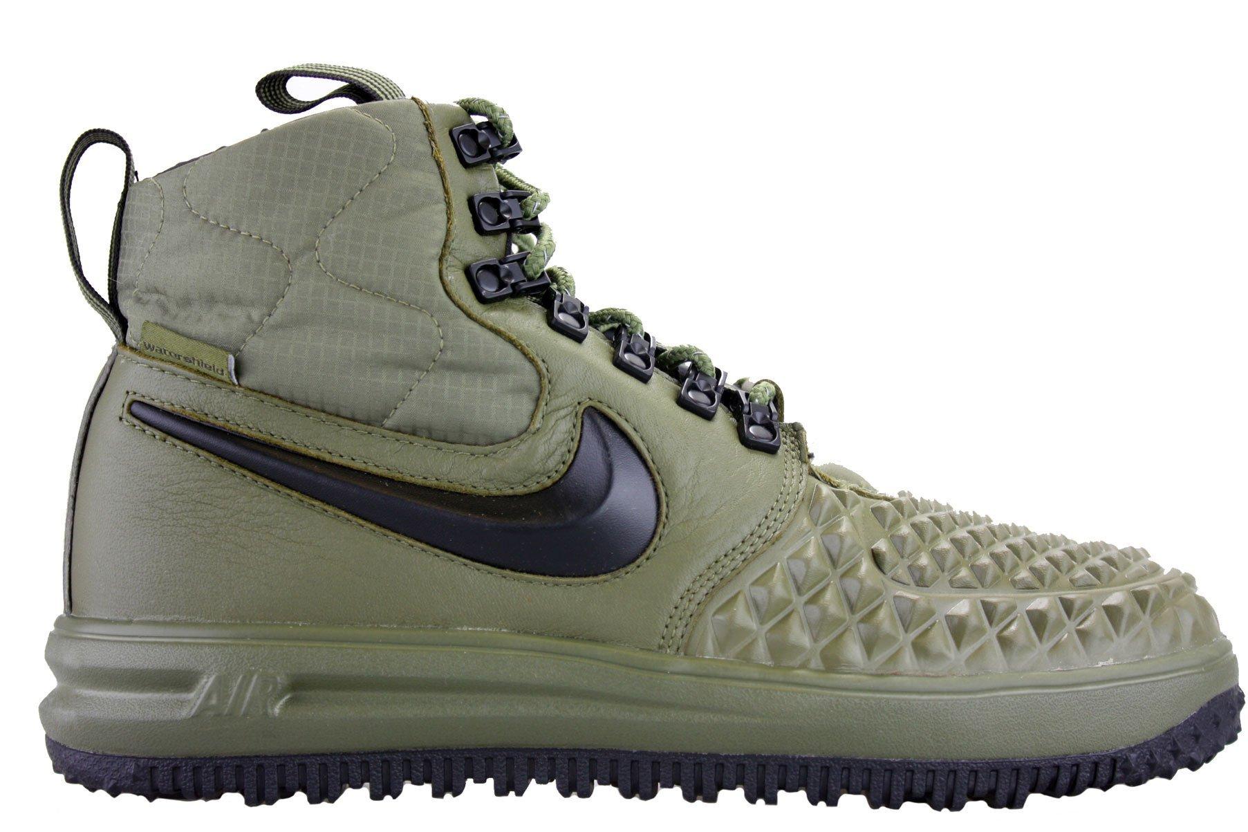 separation shoes d96cf a0d67 Galleon - Nike Mens Lunar Force 1 Duckboot  17 Medium Olive Black-Wolf Grey  916682-202 Size 9.5