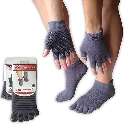 Juego de calcetines y guantes, para cualquier tipo de Yoga o Pilates, de YogaAddict