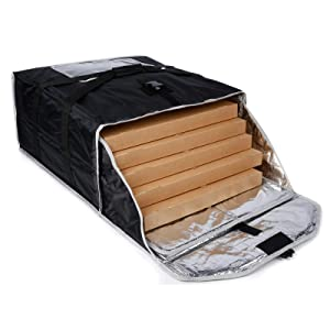 cherrboll Insulated Pizza Delivery Bag Commercial Food Warmer Carrier Bag 22