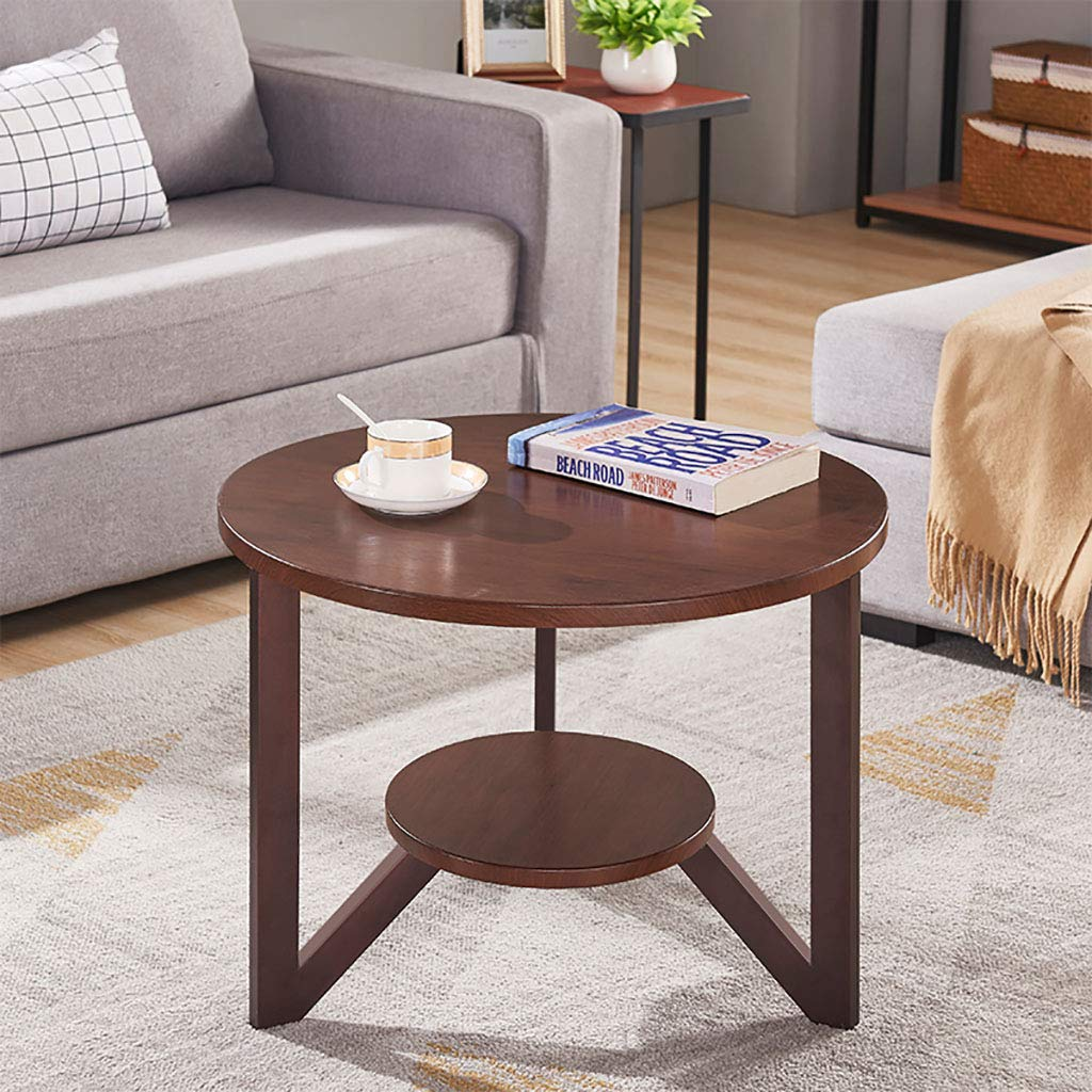 Garde Side Table, Simple Mini Bedroom Modern Home Small Coffee Table, Solid Wood Creative Casual Negotiation Small Table (Color : B, Size : 6046CM) by Garde