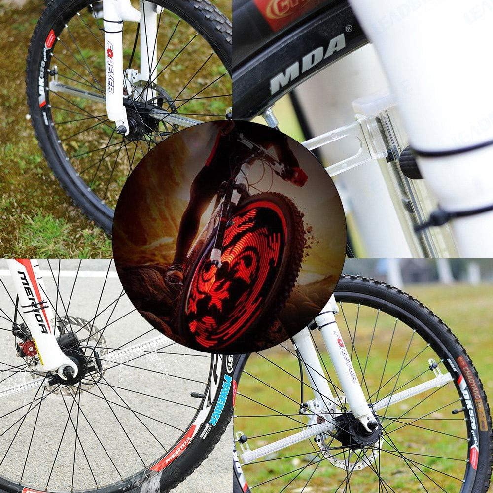 Programmable 64 LED RGB Bike Cycling Bicycle Wheel Tire Spoke Light Lamp DIY new