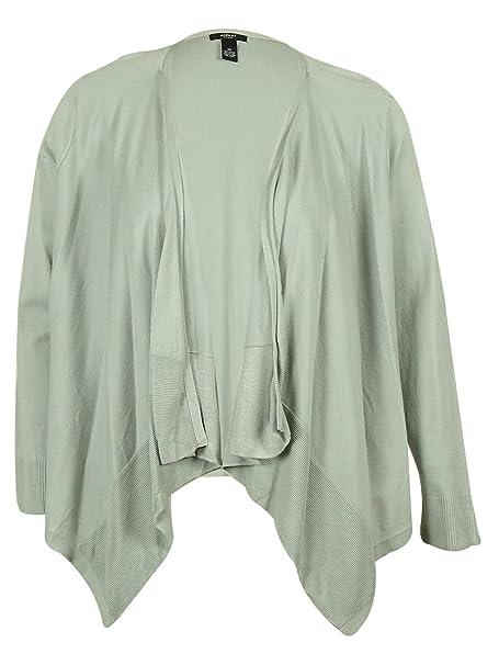 Amazon.com: Alfani de la mujer frente abierto chaqueta de ...