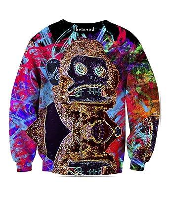 Beloved Shirts Crazy Monkey Sweatshirt - Premium All Over