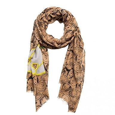 9554b4fce55409 CODELLO Women's Scarf Brown camel One size: Amazon.co.uk: Clothing