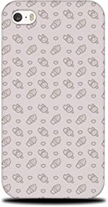 Foxercases Design (2020) #1 Food ICE Cream Heart Pattern 2 Hard Phone Case Cover for Apple iPhone 4 / 4S